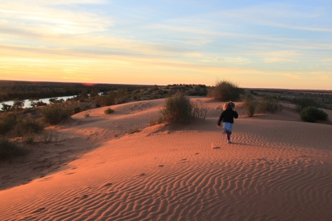 The dunes provide a great opportunity to stretch out those little legs after a day in the car