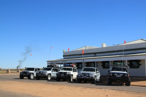 We started with 5 cars at Birdsville. 3 Prado's, 1 JK Wrangler and a GQ Patrol