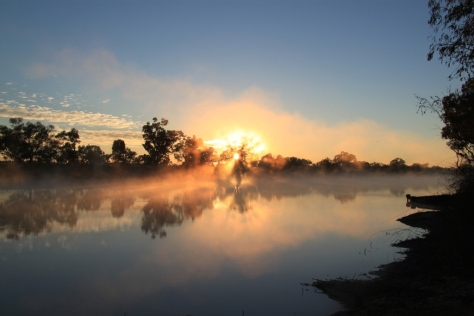 Sunrise at Cooper Creek near Innamincka