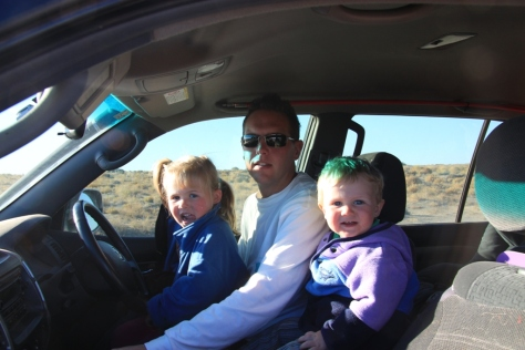 Safety first! Driving lessons at Lake Eyre