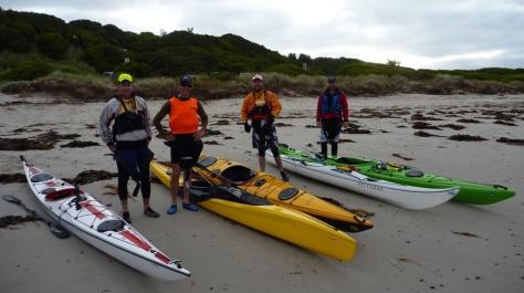Flinders Ocean Beach starring MowBro, G-Man, Coop Dogg & Hardman (L-R)
