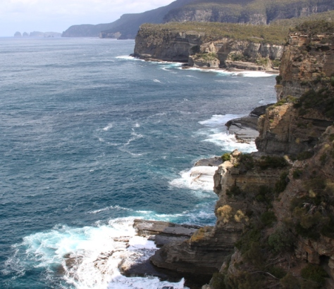Looking south from Tasman Arch