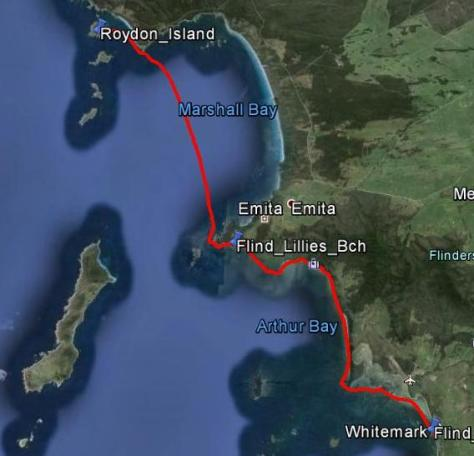 Day 6 - Roydon Island to Whitemark (Flinders Island) - 39km