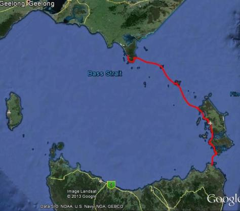 Wilson's Prom (Victoria) to Cape Portland (Tasmania) - Total 325km