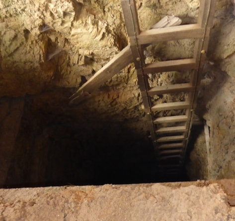 This was the deepest mine we saw and it was in the mine hut