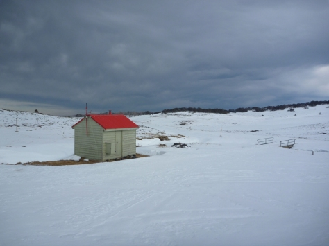 Cope Saddle Hut (SEC Hut on the Bogong High Plains). Very basic but provides valued protection from the wind