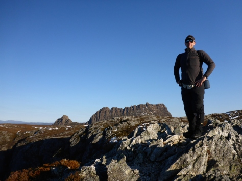 Enjoying the afternoon sun with Cradle Mountain in the background