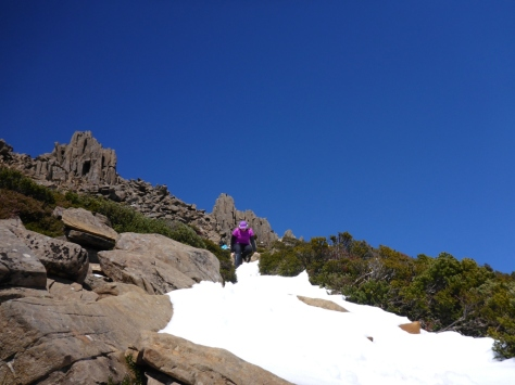 Mrs Bretto isn't too keen on snow so I don't think she enjoyed her time on Cradle Mountain