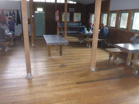 The dining area at Bert NIchols hut was well appointed and has plenty of space.