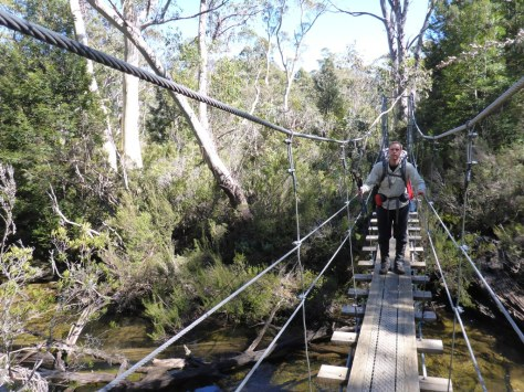 Suspension bridge over Cephissus Creek