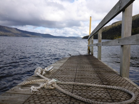 The Echo Point jetty on Lake St Clair