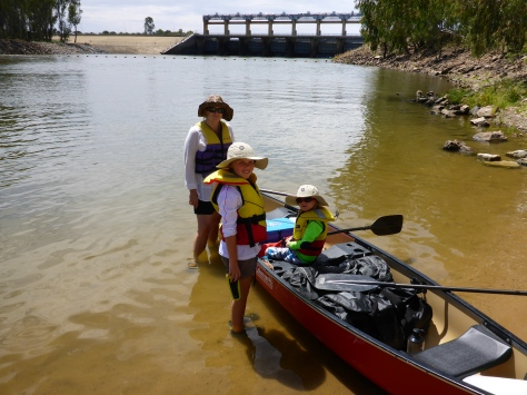 We started the trip just downstream of the Yarrawonga weir.