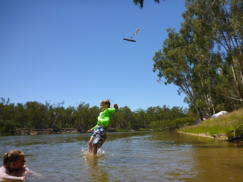 Everyone loves a rope swing hanging over the river